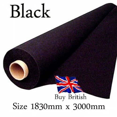 Black Carpet Speaker Cabinet Covering 3m